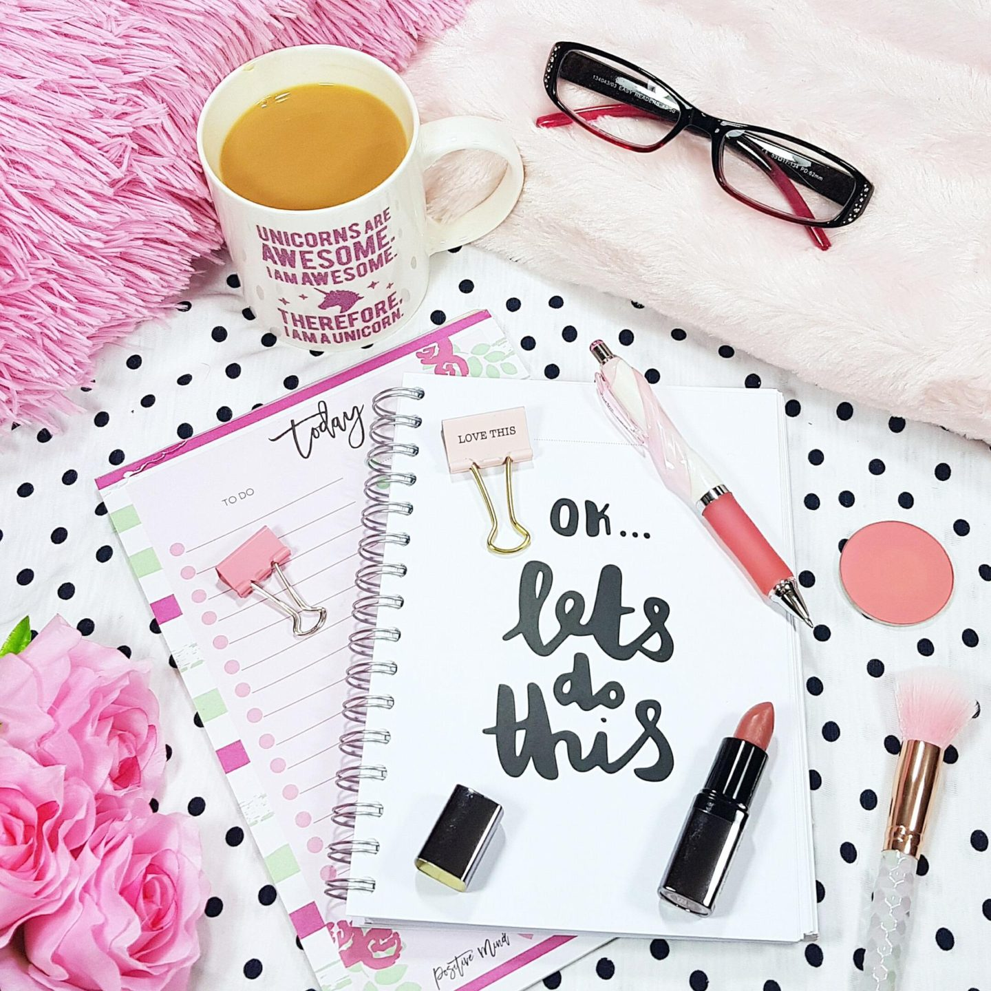 Weekly motivation with my planner, to do list and cup of tea