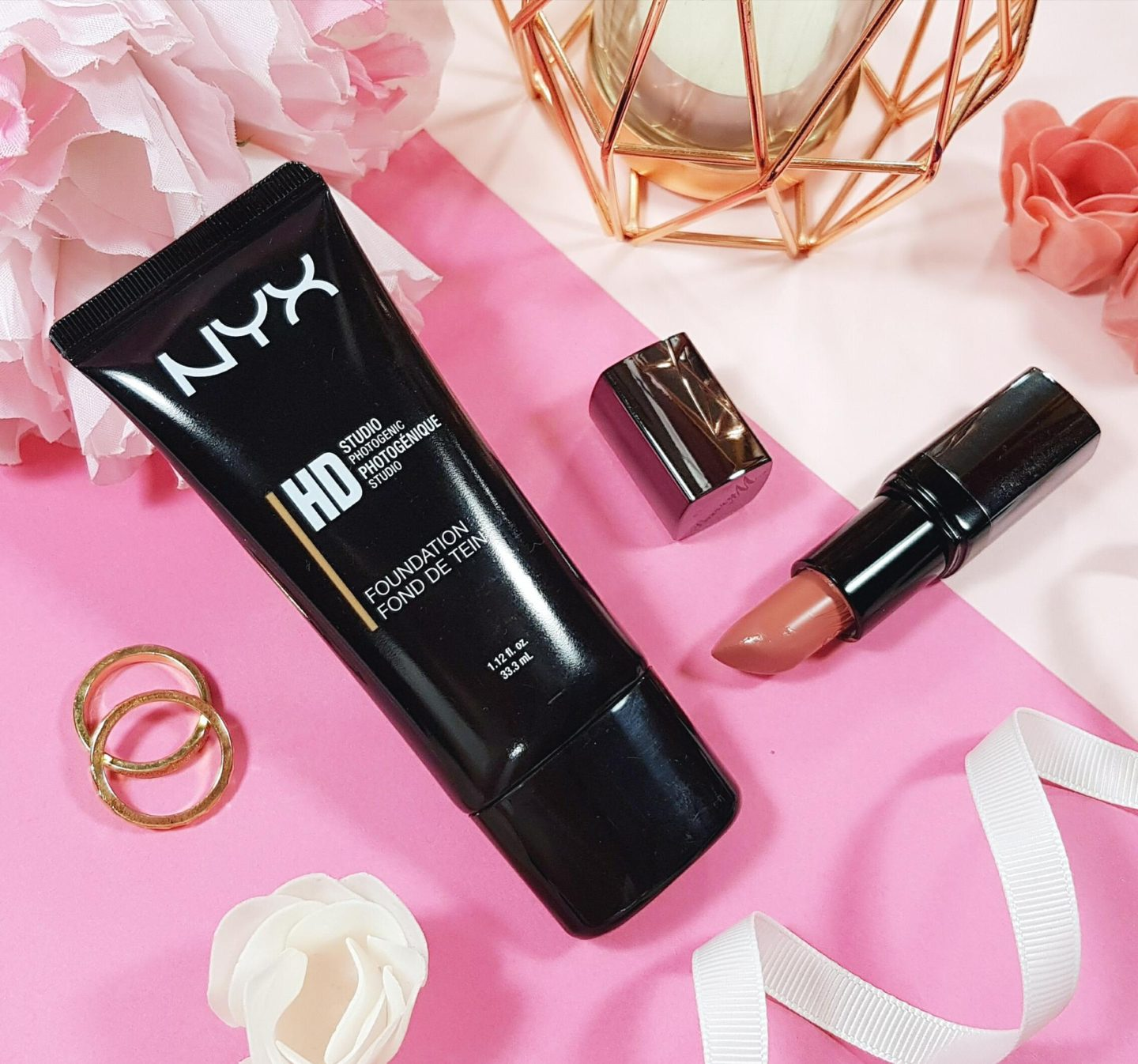 NYX HD Foundation and Barry M Lipstick Mannequin