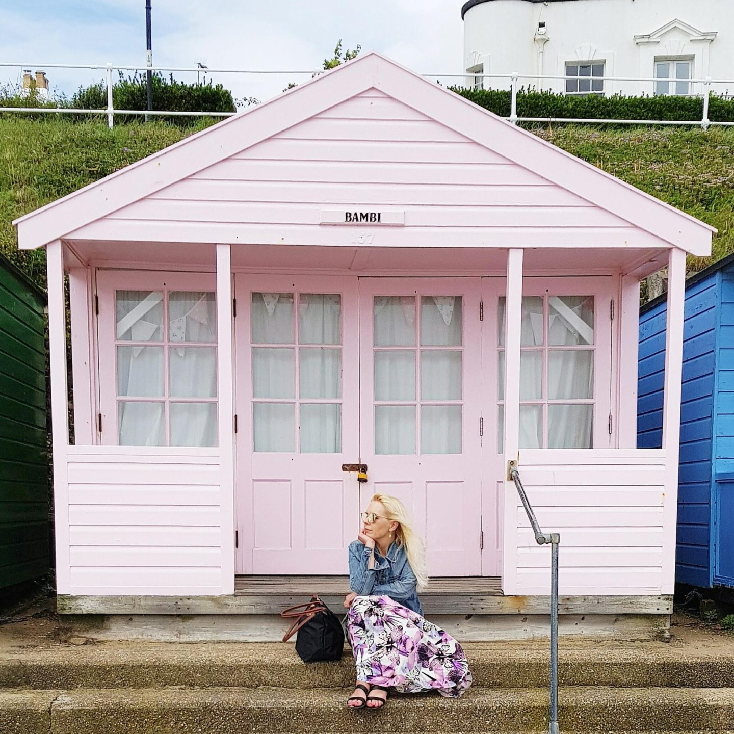 Pink Beach Hut in Southwold