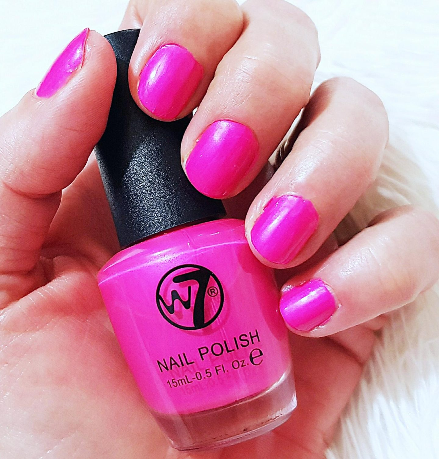 W7 Nail Polish in shade Fluorescent Pink
