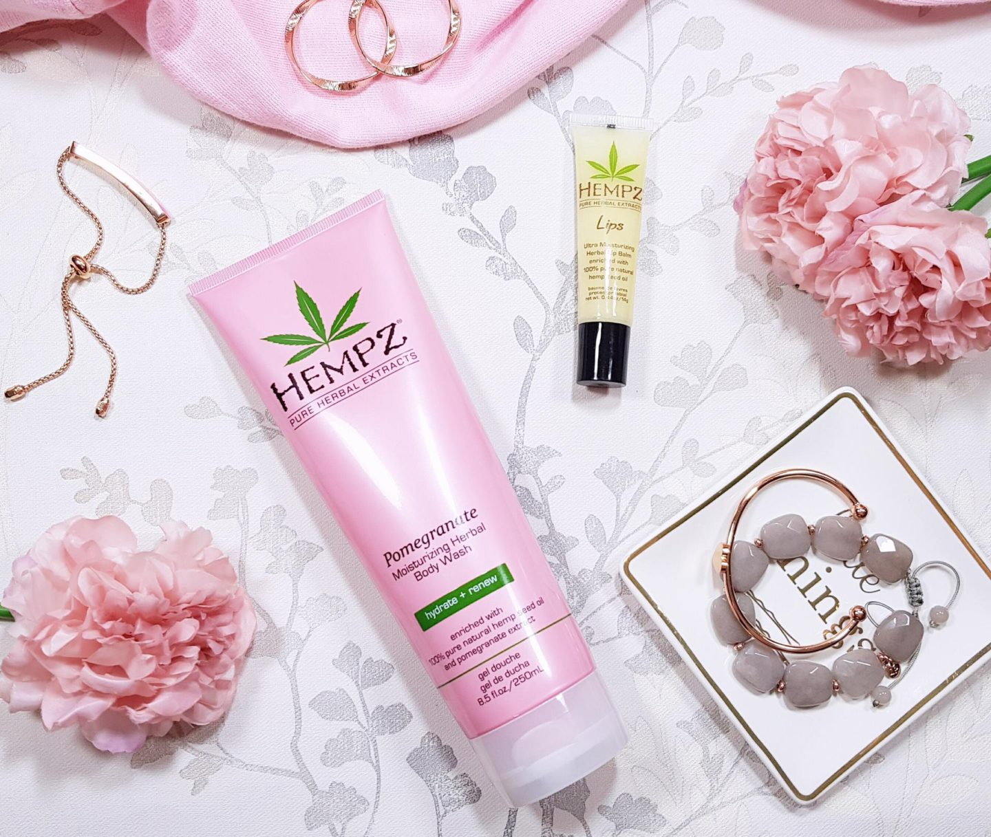 Hempz Beauty Shower Gel and Lip Balm