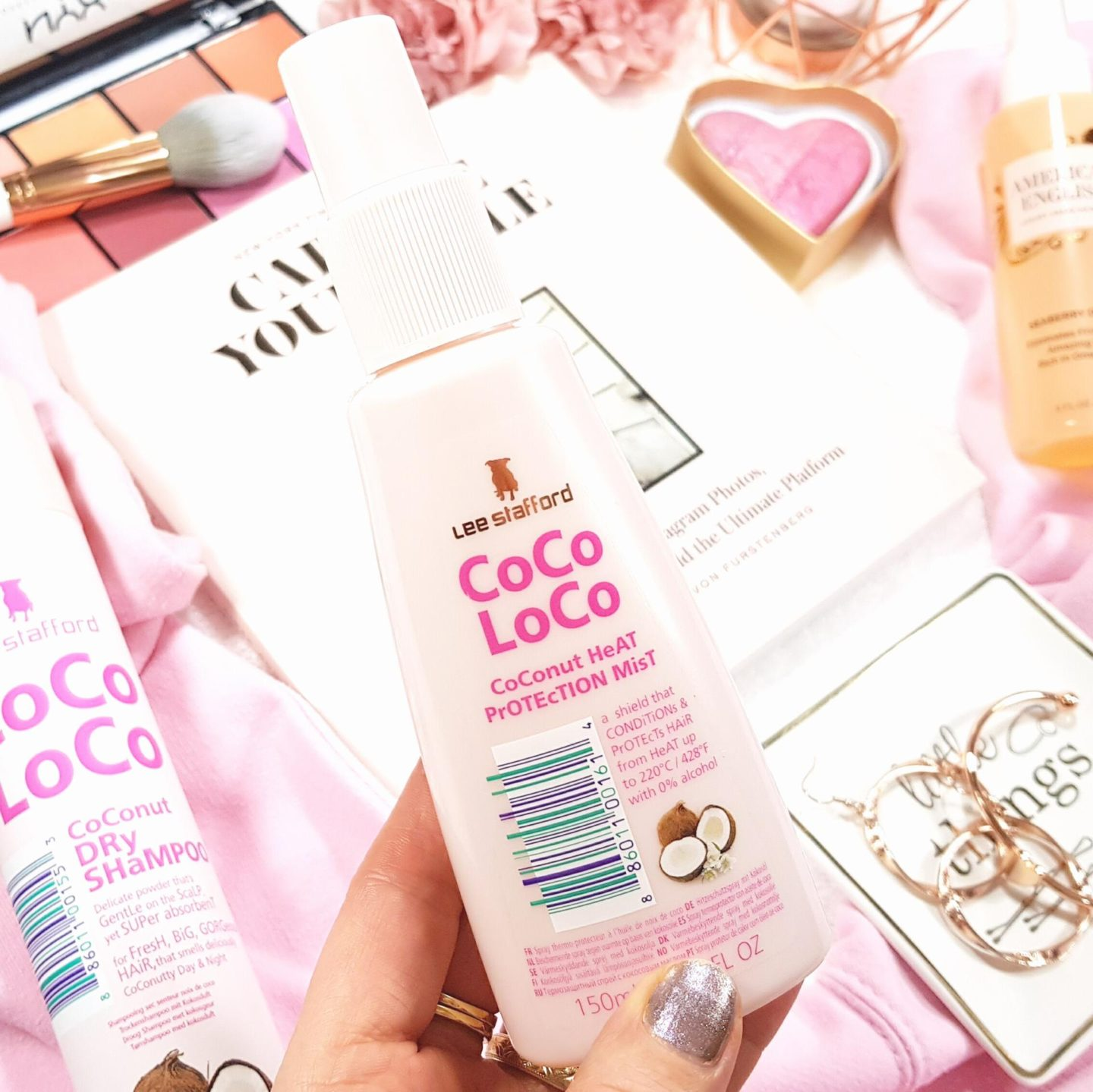 Lee Stafford Coco LoCo Heat Protection Mist is one of my hair styling essentials