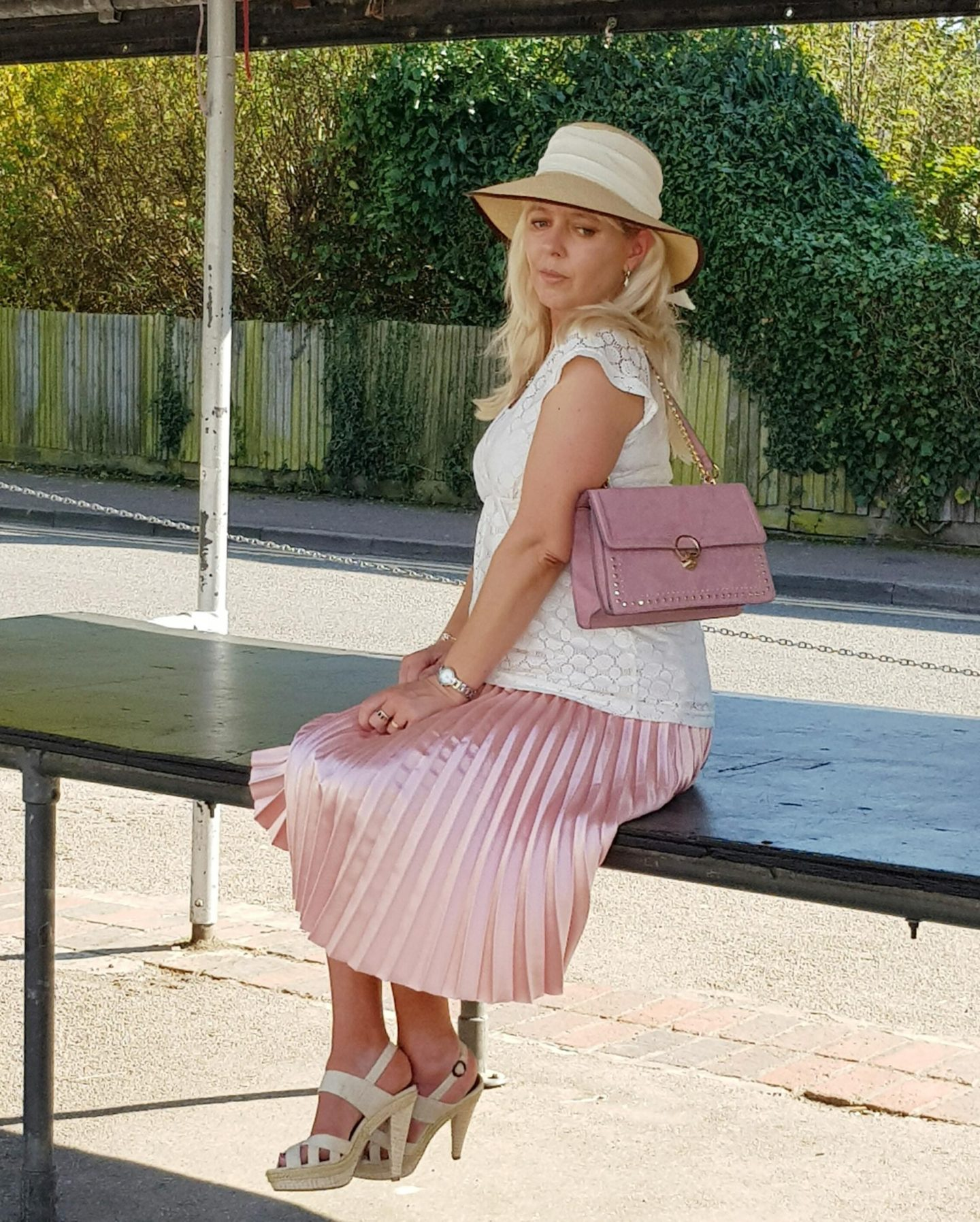 ASOS Pastel Pleated Midi Skirt