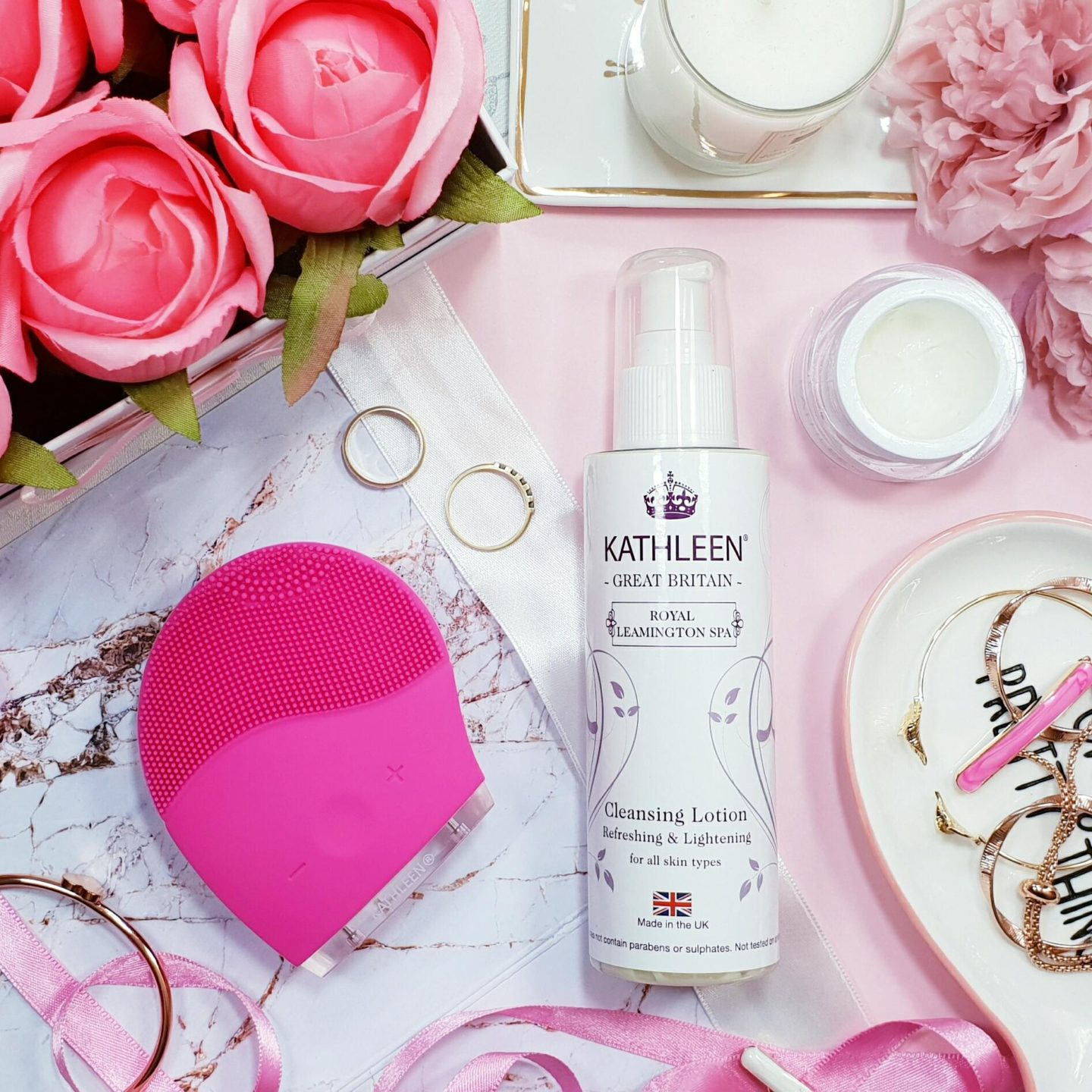 Kathleen Facial Sonic Cleansing Device And Refreshing Cleansing Lotion